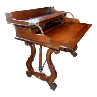 20th Century Spanish Colonial Drexel Heritage Flip Top Counselor's Writing Desk For Sale