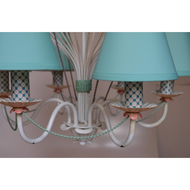 1960s Vintage Italian Tole Hot Air Balloon Chandelier For Sale - Image 11 of 12