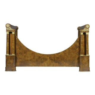 19th Century French Empire Walnut & Gilt Bronze Bedframe From Gianni Versace Estate For Sale