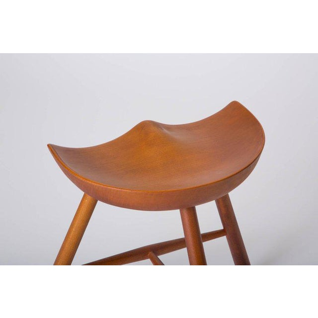 Brown Danish Modern Milking Stool For Sale - Image 8 of 10