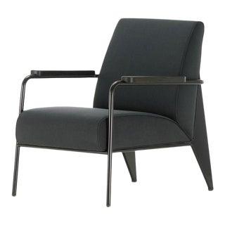 Vitra Fauteuil De Salon Armchair in Black by Jean Prouvé For Sale