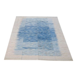 Baneh Blue Wool Kilim - 8'2''x 11'7'' For Sale