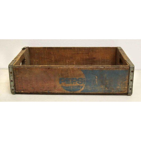 Worn Vintage Wooden Pepsi Crate For Sale - Image 9 of 10