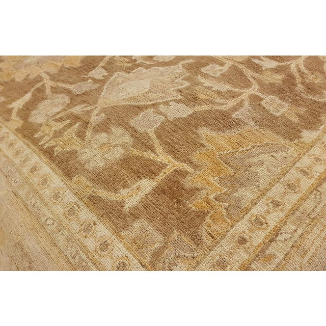 """Transitional Peshawar Audry Brown & Tan Wool Rug - 12' x 17'7"""" For Sale - Image 3 of 7"""