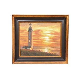 1970s Vintage Oil on Canvas Seascape Painting For Sale