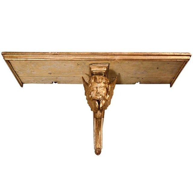 Mid 18th Century 18th Century Italian Giltwood Wall Bracket For Sale - Image 5 of 5