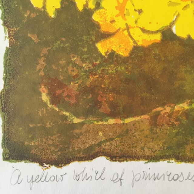 """""""A Yellow Whirl of Primrose"""" Woodblock - Image 4 of 4"""
