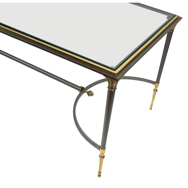 Maison Charles Brass and Chrome Coffee Table For Sale In New York - Image 6 of 7