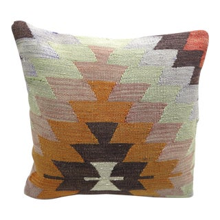 Boho Chic Anatolia Handmade Kilim Pillow Cover For Sale