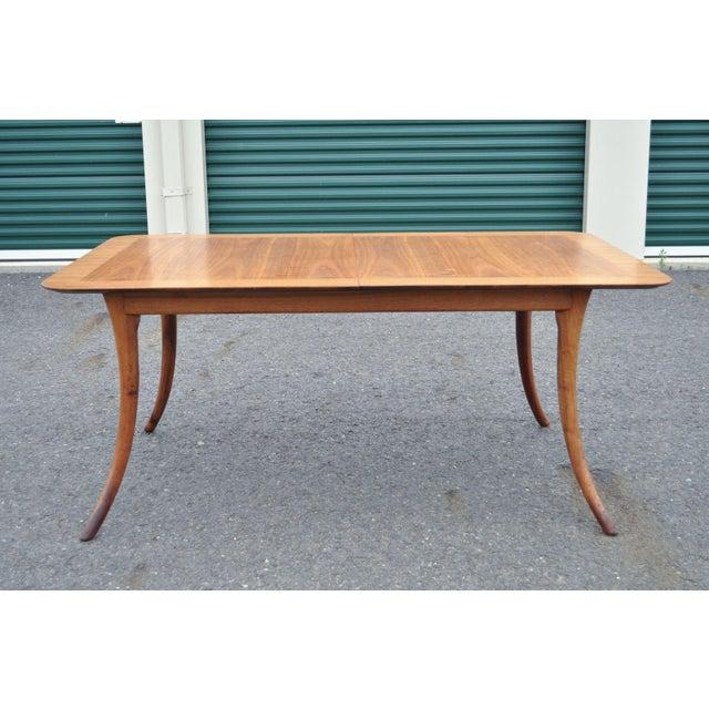 Vintage Mid Century Modern T H Robsjohn Gibbings Widdicomb Klismos Dining Table - Image 3 of 11