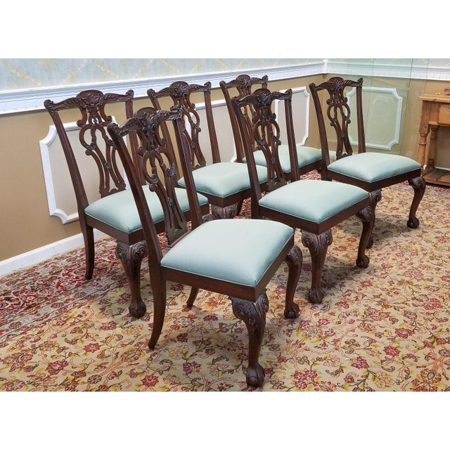 Ethan Allen Dining Room Sets For Sale: Ethan Allen Mahogany Chippendale Style Chauncey Dining