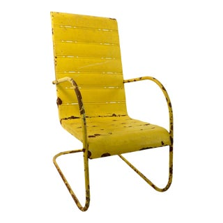 Mid-Century Art Deco Cantilevered Patio Chair For Sale