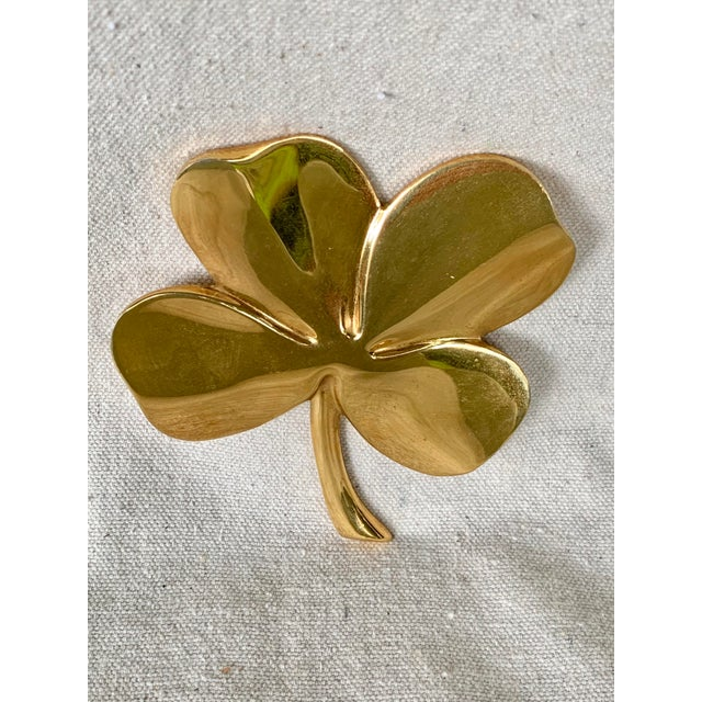 """Fun vintage four leaf clover. Features a poem on the back """"one leaf is for hope and one is for faith, and one is for love..."""