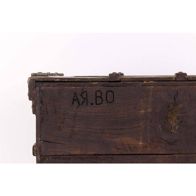 Impressive Brutalist Art Drawer Cabinet With a Beautiful Patina, Signed Ar-bo - Image 8 of 9
