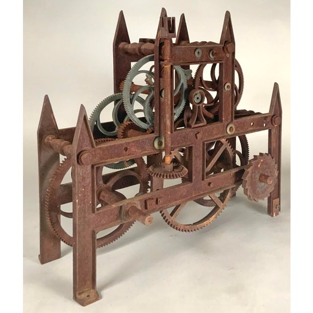 19th Century Large Iron Clockworks For Sale - Image 4 of 10