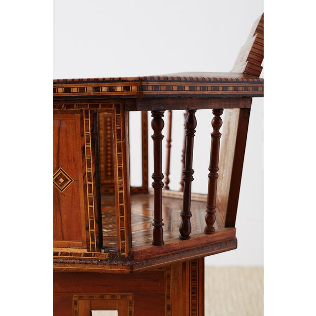 Syrian Armchair With Inlay Moorish Designs For Sale - Image 9 of 13