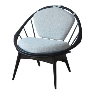 1960s Vintage Danish Modern Peacock Chair by Ib Kofod-Larsen for Selig For Sale