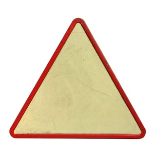 Vintage Triangle Road Sign For Sale
