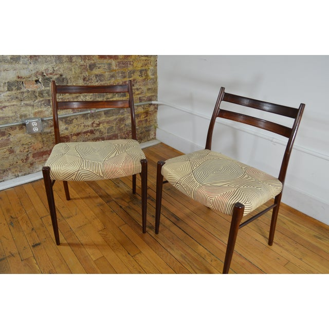 Arne Wahl Iversen Rosewood Dining Chairs - a Pair For Sale - Image 5 of 6
