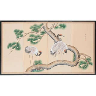Late 19th - Early 20th Century Japanese Byobu Screen For Sale