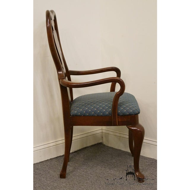 Brown Late 20th Century Vintage Thomasville Furniture Collectors Cherry Arm Chair For Sale - Image 8 of 13