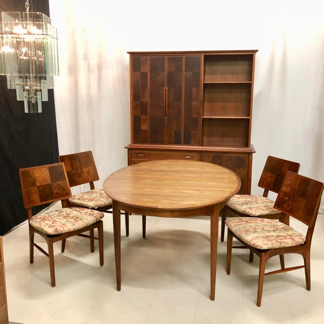 Mid-Century Dining Table With 4 Chairs by Heritage