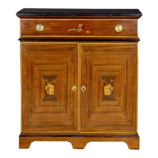 Vintage Art Deco Style French Inlaid Cupboard Cabinet by B. R. Paris For Sale