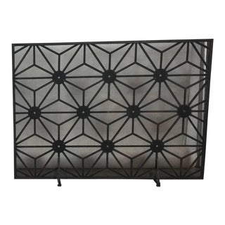 L Modernist Fireplace Screen Abstract Design For Sale