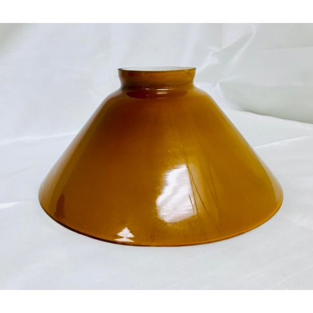 Vintage amber / butterscotch cased glass pendant light lamp shade. Great piece that came out of a warehouse in North Saint...