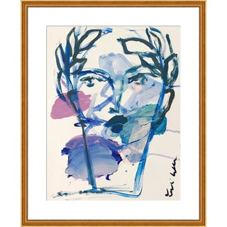 """Medium """"Roman Face"""" Print by by Leslie Weaver, 25"""" X 31"""" For Sale"""