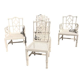 1970's Vintage Pagoda Dining Chairs - Set of 6 For Sale