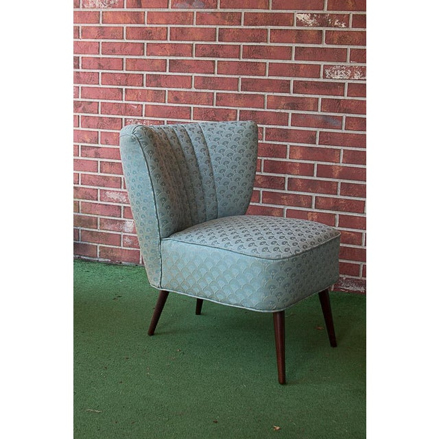 50's Era Slipper Chairs With Tapered Legs - A Pair - Image 10 of 10