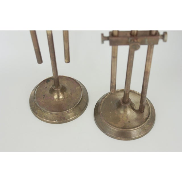 Brass Industrial Adjustable Candlesticks - Pair - Image 7 of 9