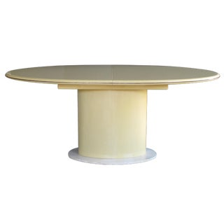 A Good Quality and Sleek American 1970's Lacquered Oval Dining Table For Sale