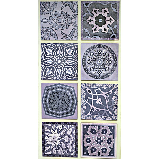 Paula Scaletta Framed Purple Tiles For Sale In Miami - Image 6 of 6