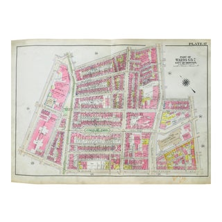 1920s Vintage Bromley Boston's South End Map For Sale