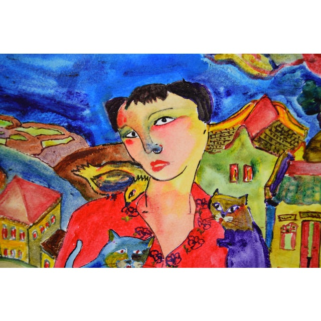 """Original """"Young & Pretty"""" Mixed Media Painting by Martin Loh For Sale In Chicago - Image 6 of 10"""