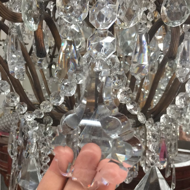 48-Light Bronze Colored Crystal Chandelier For Sale In Atlanta - Image 6 of 11