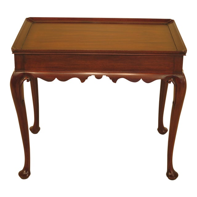 Henkel Harris Queen Anne Mahogany Tea Table For Sale