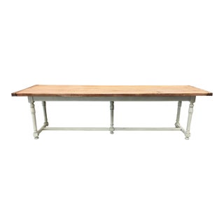 French Scrub Top Farm Table For Sale