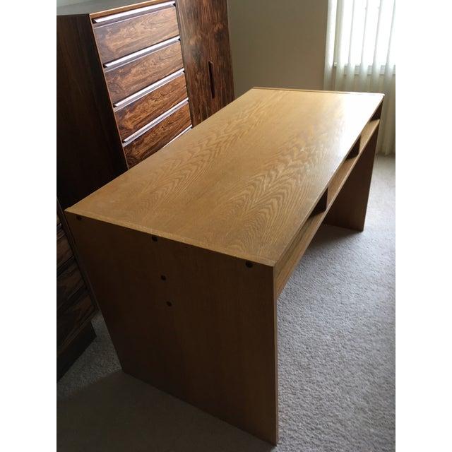 Danish Modern Mid-Century Teak & White Two-Drawer Desk For Sale - Image 9 of 13