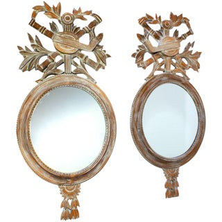 1950s 20th Century Vintage Mirrors - a Pair For Sale