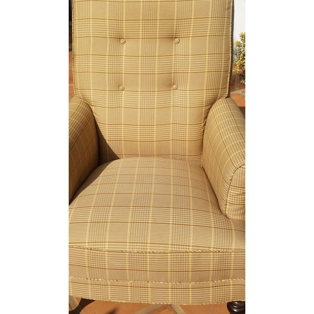 English Traditional Club Chairs by Mitchel Gold - a Pair For Sale - Image 3 of 11