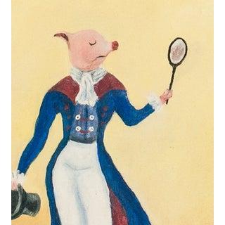 """Piglet Vanity?"" Oil Painting Preview"