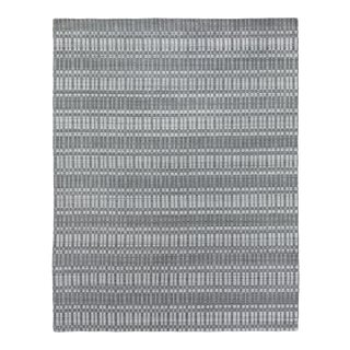 Exquisite Rugs Caudry Hand Loom Wool Dark Gray - 9'x12' For Sale