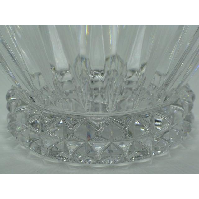 Brutalist German Brutalist Crystal Centerpiece Fruit Bowl For Sale - Image 3 of 10