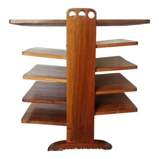 1960s Vintage Edward Wormley Style Multi-Level Magazine Tree Rack For Sale