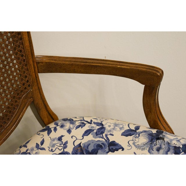 Thomasville Furniture Tapestry Collection Cane Back Dining Arm Chair For Sale In Kansas City - Image 6 of 13