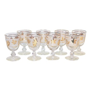 Midcentury Modern Wine Stems, Set of 8