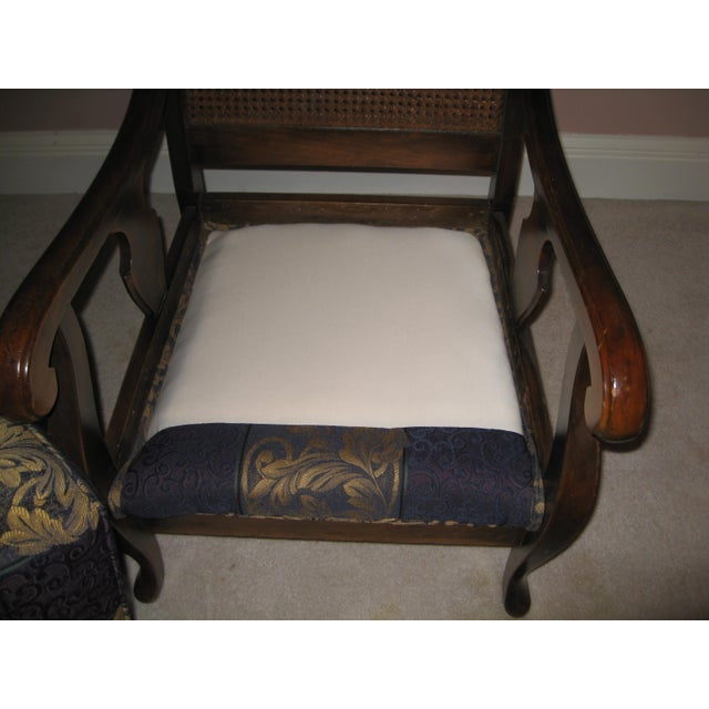 Early American Antique Three Piece Set; Cane-Back Sofa, Chair and Rocking  Chair - Antique Three Piece Set; Cane-Back Sofa, Chair And Rocking Chair